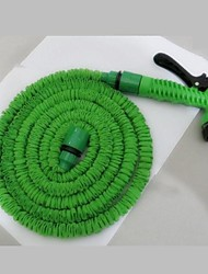 100FT Hose with Gun WATER GARDEN Pipe Green Water Valve Spray Gun With EU Connector