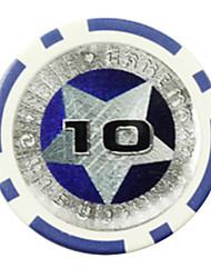 $ 10 jetons pentagramme abs de mahjong jouets de divertissement