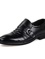 Zapatos de Hombre Oficina y Trabajo/Casual Cuero Mocasines Negro/Marrón