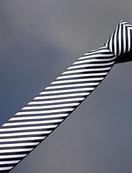 poliéster branco listrado preto impressos finos laços cinco centímetros dos homens xinclubna® (1pc)
