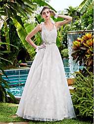 Lanting Bride® A-line Petite / Plus Sizes Wedding Dress Floor-length Sweetheart Lace with