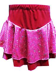 Red Velvet Dress Figura Patinaje de la muchacha (el tamaño clasificado)