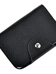 portátil de tarjetas bancarias de cuero cartera de tarjeta de tarjeta de crédito del bolso del sostenedor genuino con 26 ranuras
