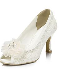 Women's Wedding Shoes Heels/Peep Toe Heels Wedding/Party & Evening Pink/Purple/Red/Ivory/White