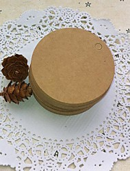 Round Brown Paper Tag (Set of 100)