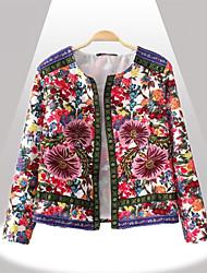 De Yinbo winter vrouwen mode bloemenprint katoenen jas