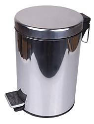 Cubo de la basura del acero inoxidable 5L Contemporáneo