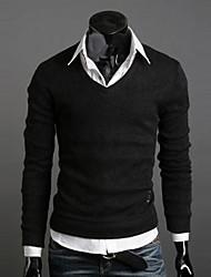 v cou au chaud épais tricots o de lesen hommes
