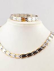 Fashion  Men's Health Magnet Titanium Steel Fish Necklaces and Bracelets Jewelry Sets