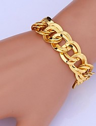 U7® High Quality 18K Chunky Gold Filled Twisted Figaro Link Chain Bracelet for Men Women  Christmas Gifts