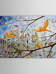 Hand Painted Oil Painting Landscape  Birds in Trees with Stretched Frame