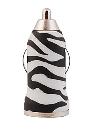 Elonbo Black and White Lines Design Wireless USB Car Charger for Cellphone