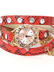 wagen u Mode Punk Leder stilvolle Kette Uhr