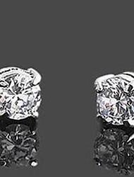 Men's Classic Rhinestone Magnet Cilp Earrings