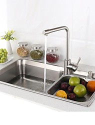 Contemporary L29.5 Inch Double Bowl 304 Stainless Steel Kitchen Sink Set with Drain Rack,Set of 6