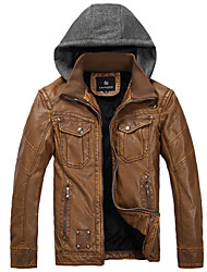 Men's Motorcycle Leather Fashion Euramerican Style Leather Jacket