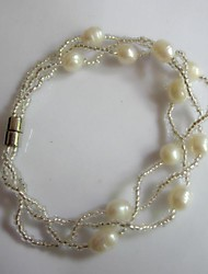 Women's Fashion Trends Cute Retro Classic Pearl Elastic Bracelet