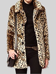 Women's Turn-down Collar Sexy Leopard Casual Coat