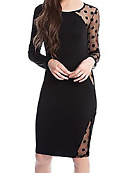 Jimi Women's Lace Sexy Long Sleeve Dress