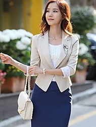 Mulher V Neck Lace Cuff Magro Blazer