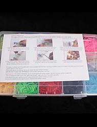 baoguang®loom полосы небольшой размер многоцветной резинкой C для детей (3000pcs, случайный цвет)