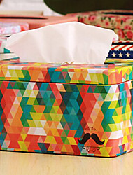 "3.8""H Ferric Colorful Draw-off Tissue Box"