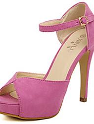 IPIEN Fashion High Heel Peep-Toe Sandal (Pink)