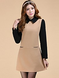 Women's Vintage / Bodycon / Casual / Cute / Party / Work / Plus Sizes Dress Above Knee Polyester