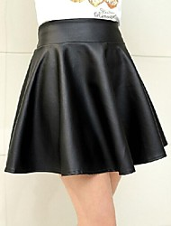 Women's Black Skirts , Sexy/Party Above Knee