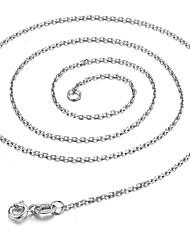Qianse моды старинные серебряные сплошной цвет крест цепи белый