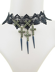 Coolshine Gothic Vintage Lace Necklace-2014-201-LS073