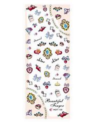 2PCS Mixs Jewelry Design Nail Art Stickers Watermark HOT-135