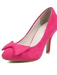 Stiletto bico fino de flocagem Mulheres Bombas Shoes (mais cores)