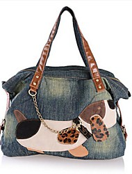 Women's Cartoon Fashion Denim Handbag
