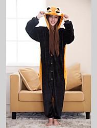 Kigurumi Pyjamas Bär / Waschbär Gymnastikanzug/Einteiler / Pantoffeln Fest/Feiertage Tiernachtwäsche Halloween Schwarz Patchwork