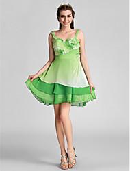 retour cocktail / vacances / robe de bal - multi-couleurs tailles plus d'une ligne-chérie Short Mini mousseline /