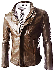 Men's Casual Fashion PU Leather Jacket