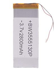 "Universal Replacement 3.7V 2800mAh  Li-polymer Battery for 7~10"" Macbook Samsung Acer Sony Apple Tablet PC (35*55*130)"