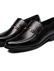 Leather Men's Wedding Low Heels Comfort Oxfords Shoes (More Colors)