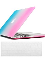 Beautiful Rainbow Pattern PC Hard Case with Keyboard Cover Skin for MacBook Retina