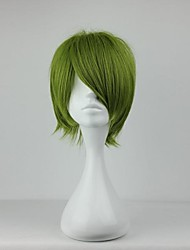 Cosplay Wigs Cosplay Midorima Shintaro Green Short Anime Cosplay Wigs 30 CM Heat Resistant Fiber Male