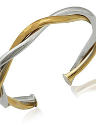 U7® Top Quality Cuff Bangle 18K Real Gold Platinum Multi Plated Bracelets Bangles For Women