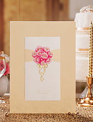 Pink Flower Style Guest Book Sign In Book
