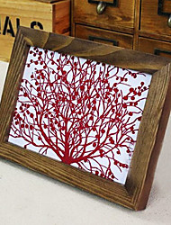 """4 """" x 6 """" Vintage Rectangle Wood Picture Frame"""
