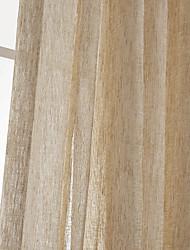 um painel de poliéster bege sólida cortina cortina