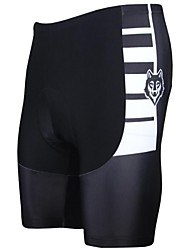 PaladinSport Men's Cycling Shorts Black and White Stripe Spring and Summer Style Lycra and Polyester Cycling Shorts