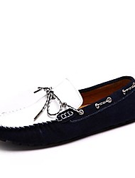 Men's Spring Summer Fall Winter Moccasin Suede Office & Career Casual Bowknot Blue