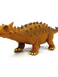 figurines en caoutchouc de modèle ankylosaur de dinosaure jouet (jaune)