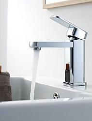 Single Handle Chrome Centerset Bathroom Sink Faucet