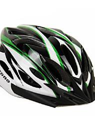 acrono 22 aberturas preto verde integralmente moldado capacete ciclismo (57-62 centímetros)
